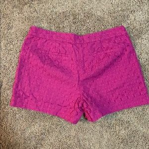 crown & ivy Shorts - Hot pink crown & ivy eyelet shorts size 8